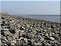 ST5087 : Sudbrook: boulders on Severn foreshore by Chris Downer