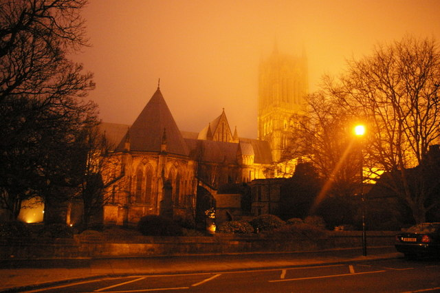 Lincoln Cathedral in the mist