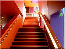 SJ8097 : Lowry centre stair by Steve  Fareham