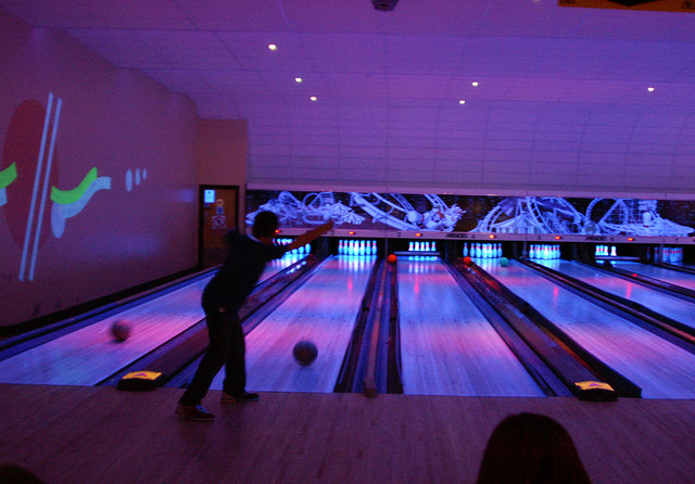 Ten-pin bowling, Fountainbridge, Edinburgh