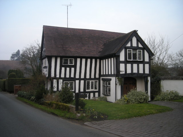 Half-timbered house at Stableford