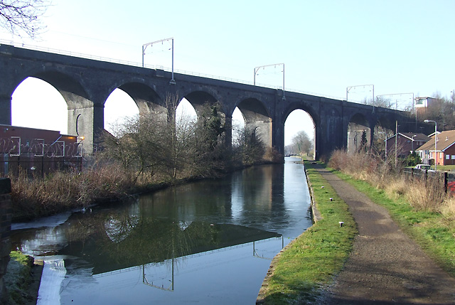 Viaduct across Canal, Wolverhampton