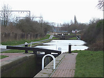 SO9199 : Wolverhampton Locks No 3 by Roger  Kidd