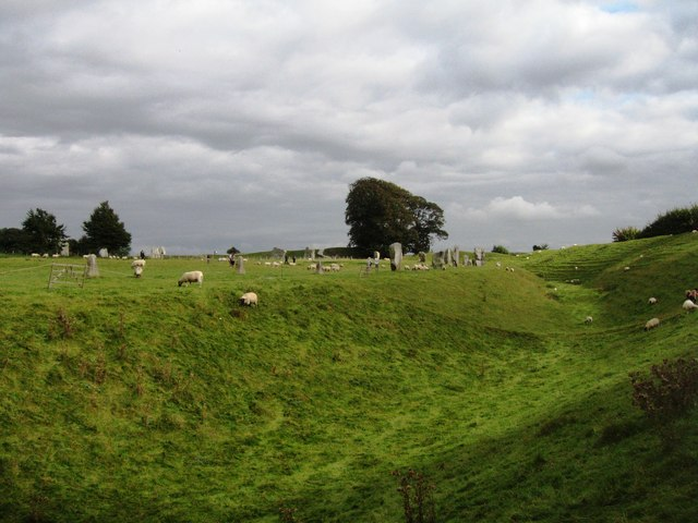 A Ditch, a few stones & some sheep