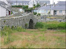 SH3568 : Pont Aberffraw Bridge by John S Turner