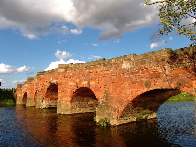 Eckington Bridge in early summer sunlight
