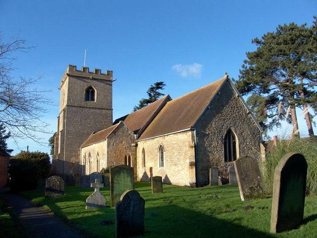 Eckington Church in Winter sunshine
