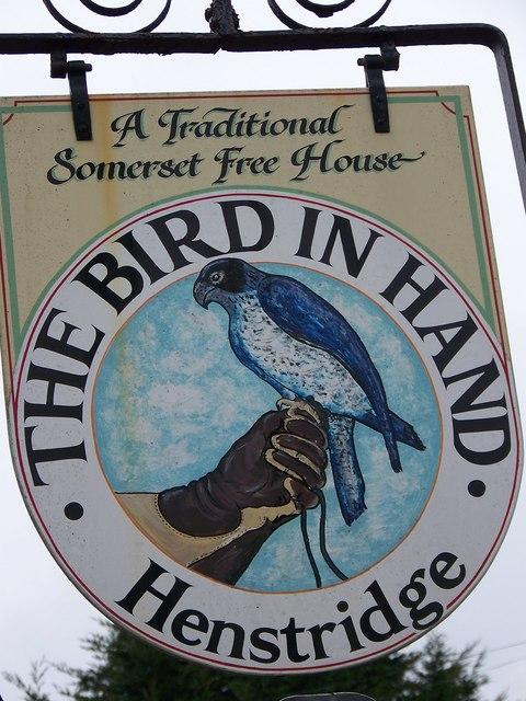Sign for the Bird in Hand, Henstridge