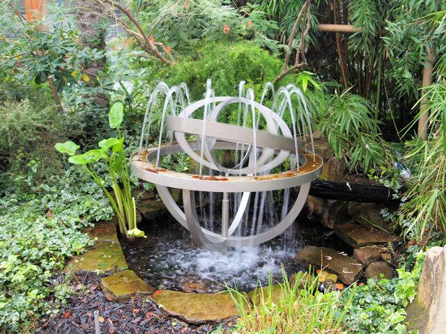 Fountain in Sheffield's Winter Gardens