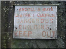 NS0567 : Abandoned Church - notice on side of church by Nicholas Mutton