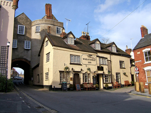 Broad Gate and The Wheatsheaf Inn by L S Wilson