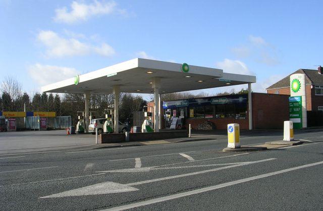 BP Filling Station - Bradford Road by Betty Longbottom