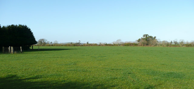 Flat pasture at Fortchester Upper