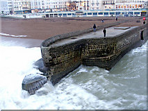 TQ3103 : Waiting for the Wave at Brighton, East Sussex by Christine Matthews