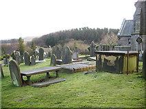 SD6715 : St Peters Parish Church, Belmont, Graveyard by Alexander P Kapp