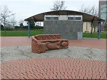 ST1974 : Bench sculpture by Eirian Evans