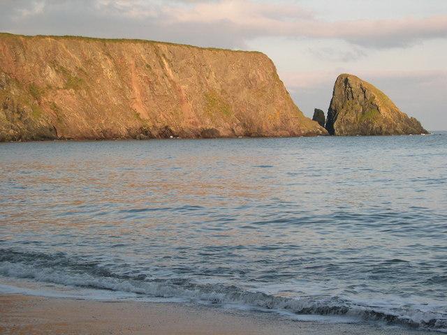 St John's Island at sunset, Ballydowane Bay