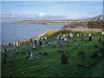 SD4161 : Parish Church of St Peters, Heysham, Graveyard by Alexander P Kapp