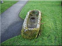 SD4161 : Parish Church of St Peters, Heysham, Stone grave by Alexander P Kapp