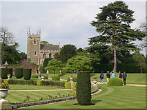 SK9239 : Belton Church from the gardens of Belton House by Hector Davie