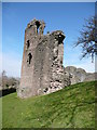 SO2913 : Abergavenny Castle curtain wall by Jeremy Bolwell