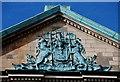 J3374 : Coat of arms, Scottish Provident, Belfast by Albert Bridge