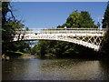 SO0288 : River Severn, Llandinam bridge by kevin skidmore
