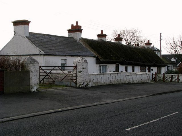 Thatched cottages, Ballymacormick Road, Bangor