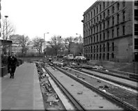SJ8498 : West end of Aytoun Street, Manchester by Dr Neil Clifton