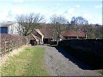 NZ2542 : Baxter Wood Farm by Roger Smith