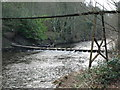 NZ2486 : Stepping Stones & Private Suspension Bridge Over The Wansbeck At Bothal by Kevin Richardson
