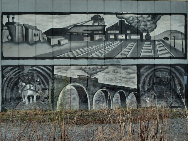 Closeup Of The A189 Mural At Weetslade