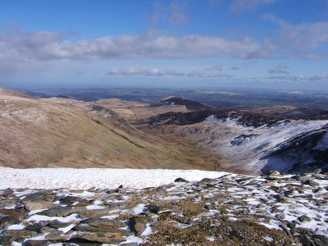Looking down Cwm Eigiau