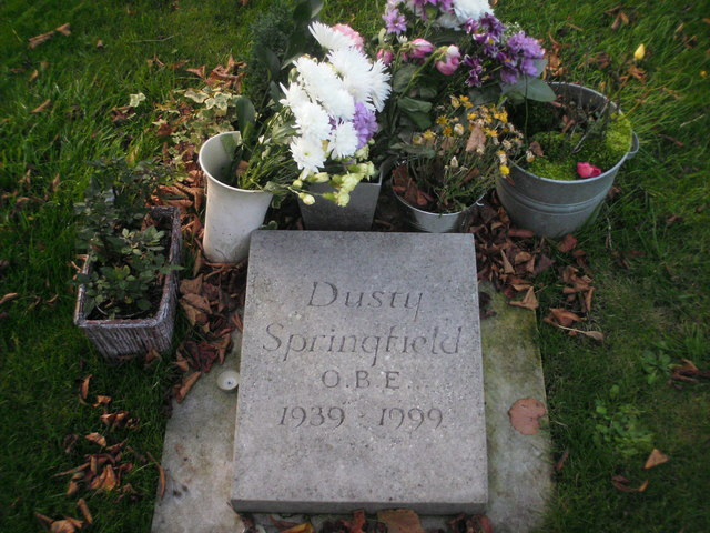 Dusty Springfield's grave by Andrew Blades