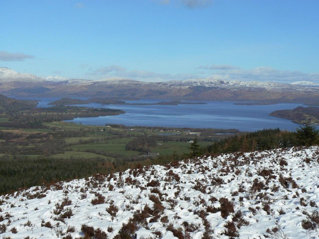 Winter view of Loch Lomond