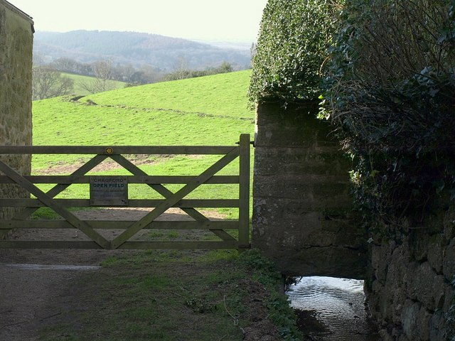 Leat entering Chagford Open Field