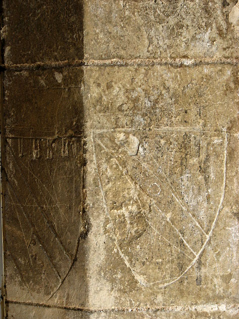St Mary's church - graffiti on south doorway