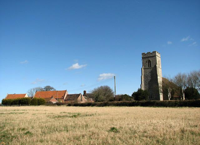 St Mary's church and Church Farm