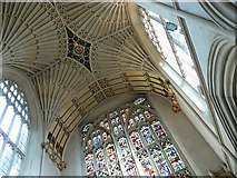 ST7564 : Bath Abbey, ceiling and stained glass by Brian Robert Marshall