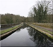 SK3155 : High Peak Cromford Canal Aqueduct over the River Derwent by Rob Bradford