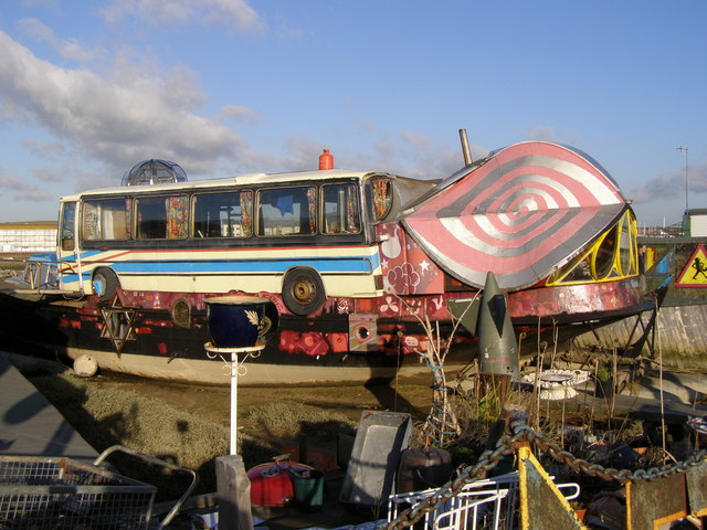Hamish's houseboat, Shoreham Beach