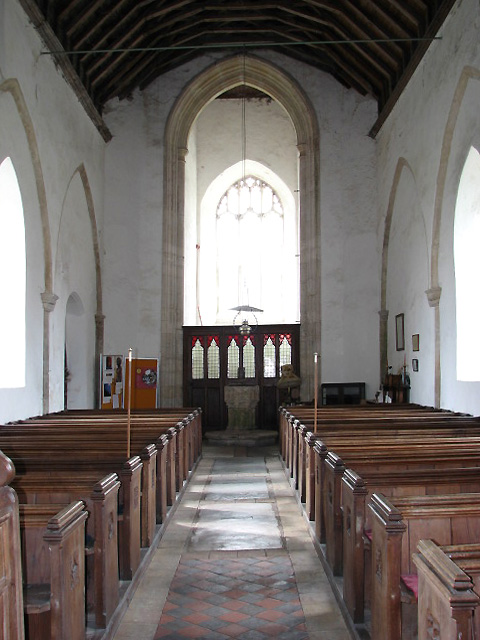 The church of St Giles - view west
