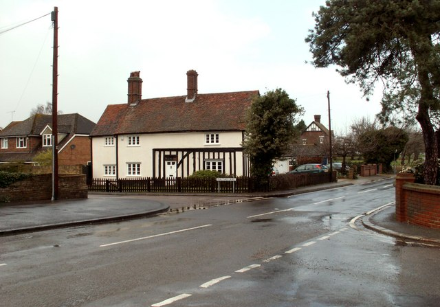 A road junction on the B188 by Robert Edwards