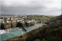 SW9980 : Port Isaac: The Haven and the East breakwater by Hugh Craddock