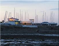 J5182 : Ballyholme Yacht Club at dusk by Rossographer