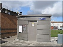 NS9865 : Toilet, Mill Centre, Blackburn by Richard Webb