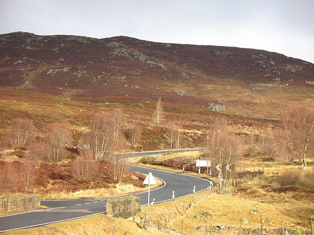 A889 Dalwhinnie to Laggan road