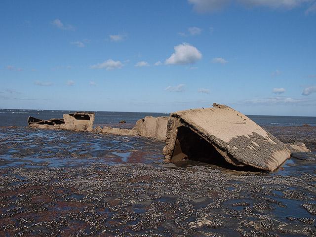 Remains of the MV Creteblock