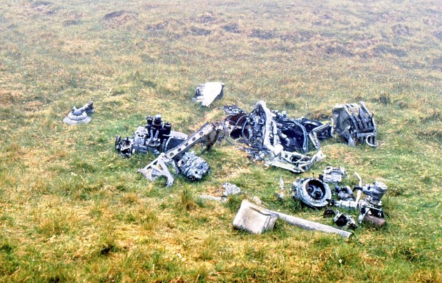 Aircraft wreckage on Conachair
