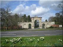 SJ5409 : Entrance to Attingham Park by Row17